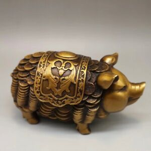 Chinese-Brass-Fortune-Lucky-pig-Home-decoration