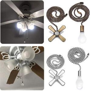 Copper Ceiling Fan Pull Chain Extension Chains Light Bulb Fan Cord Celling Ebay