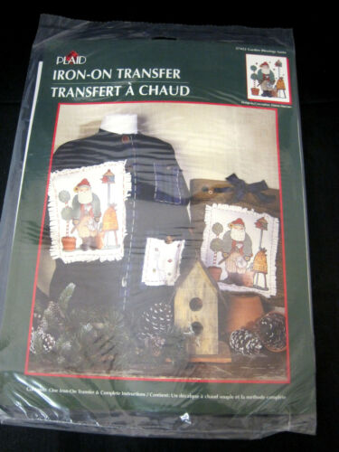 Plaid IronOn Transfer Garden Blessings Santa Christmas Design by Dianna Marcum