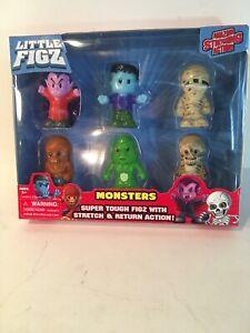 Monsters-Little-Figz-Figures-Stretch-Action-Vampire-Frankenstein-Mummy-Werewolf