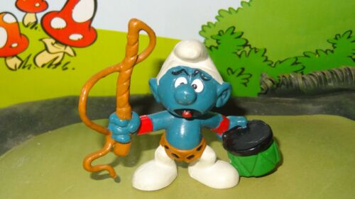 Smurfs Lion Tamer Smurf Circus Whip 20115 Vintage Rare Original Display Figure