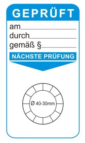 Details about  /Inspektionsaufkleber Grundplaketten Prüfplakette Unterlage Wartung Prüfplaketten