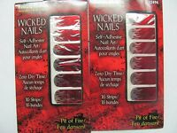 16 Wicked Nails Art Strips Decals Fantasy Makers Pit Of Fire 12494 Lot Of 2