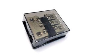 KnuKonceptz Bassik 3 Way 0 Gauge to 0 - 4 Gauge Mini ANL Fuse Block w Fuses