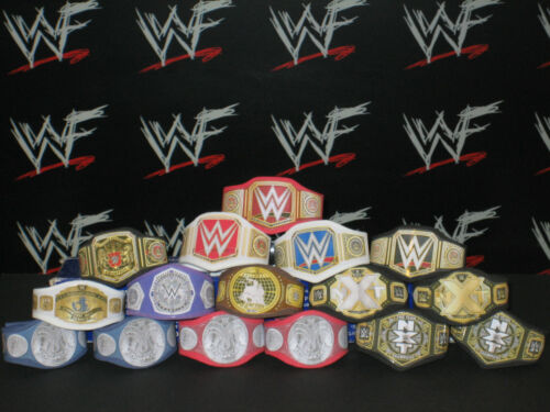 16 X CUSTOM WWF WWE NXT titolo cinghie per Hasbro Mattel Retrò WRESTLING FIGURE