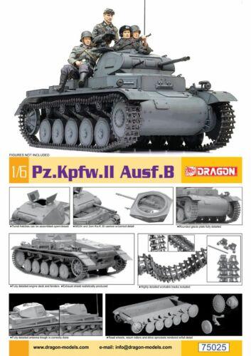 Carro Armato 1:6 Die-Cast Model B Tank Panzerkampfwagen Pz.Kpfw II Ausf