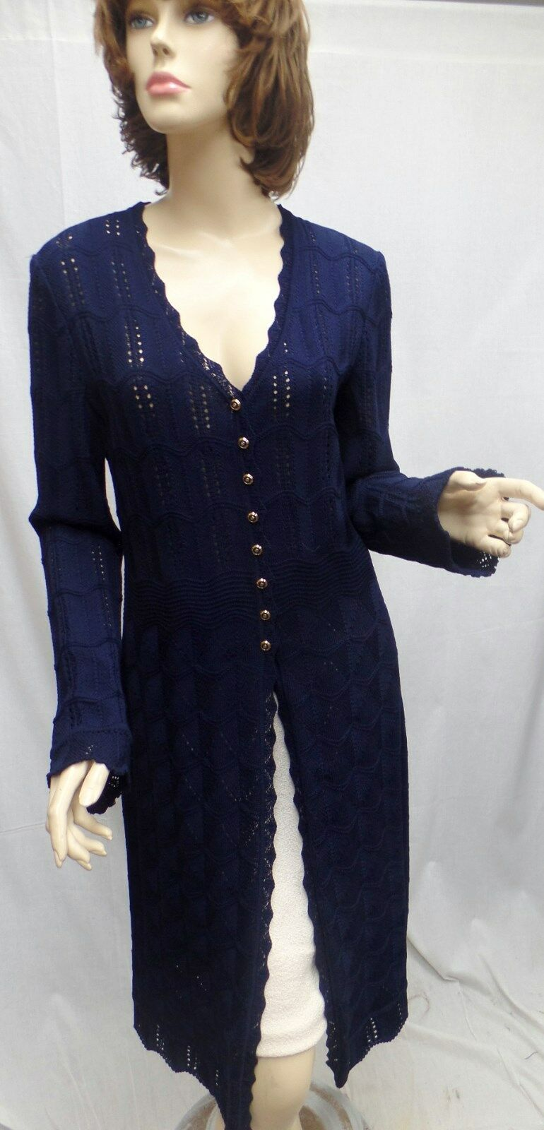 St John Knit COLLECTION NWT Navy Santana Knit COAT DRESS SZ 8
