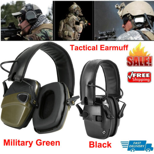 Electric Tactical Earmuff Noise Reduction For Outdoor Sports Shooting Soundproof