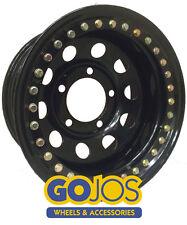 16x8 BLACK MODULAR STEEL WHEEL WITH SATIN IMITATION BEAD LOCK 5x165.1 DEFENDER