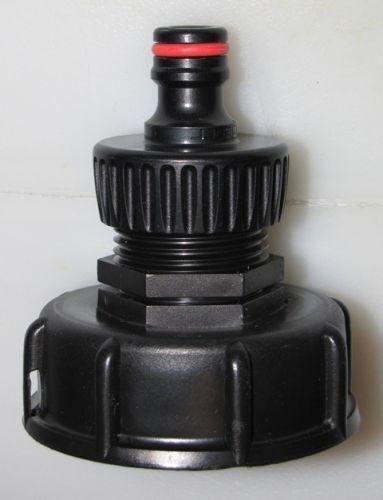 Anschlussstutzen Adapter 60mm Grobgewinde auf Gardena