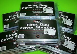 5000-FIRST-DAY-COVER-POLY-SLEEVES-2-MIL-HOLDS-6-ENVELOPE-BCW-w-FREE-SHIPPING