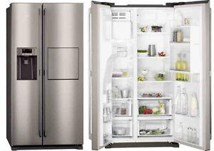 Kühlschrank No Frost A : Aeg side by side edelstahl barfach eis und wasserspender