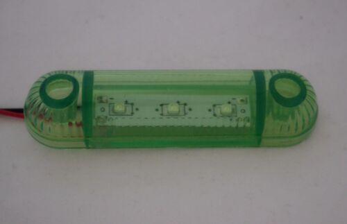 4 X 12V 3 Led Grün Seitenblinker Kontrollleuchten Lampe für Lkw Lkw-Anhänger