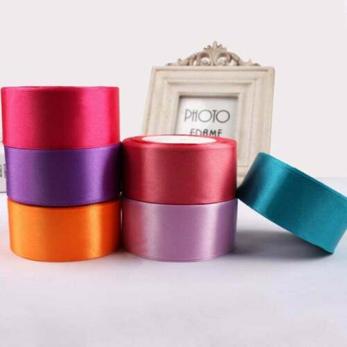 Double Faced Sided Satin Ribbon Ultra Low Price 25 Yards Multiple Color /& Size