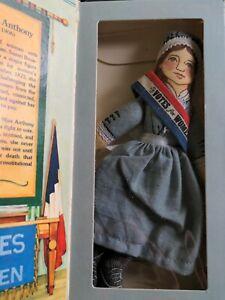 Vintage HALLMARK Cloth Doll Famous Americans Series 1 Susan B. Anthony 1979