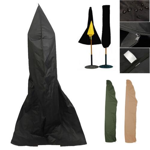 Waterproof Umbrella Tilt Big Pool Parasol Garden Sun Shade Cover Black