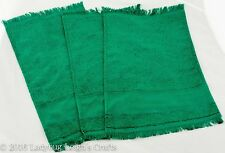 Lot of 3 Cross Stitch Fabric Towels Christmas Green Fingertip Charles Craft NEW