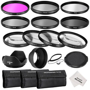 Neewer-58MM-Complete-Lens-Filter-Accessory-Kit-UV-CPL-FLD-ND2-ND4-ND8-Filters