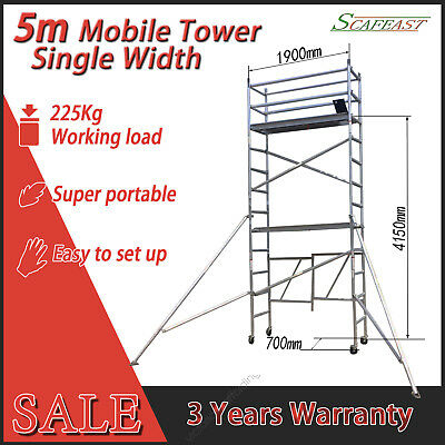 [Recommended] 5.0m Aluminium Scaffolding Alloy Mobile Scaffold Tower