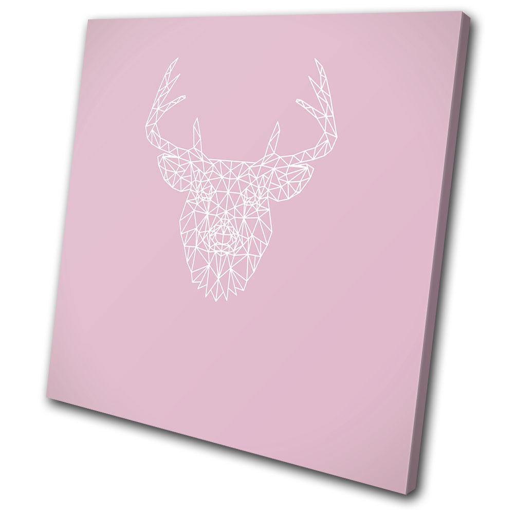 Geometric Stag Animals SINGLE TELA parete arte arte arte foto stampa 450c2e