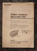 Sony - Operating Instruction Manual - Ccd-trvxx Models - Video Hi8 - Original