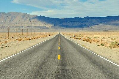 CALIFORNIA OPEN ROAD LANDSCAPE POSTER PRINT 24x36 HI RES 9 MIL PAPER