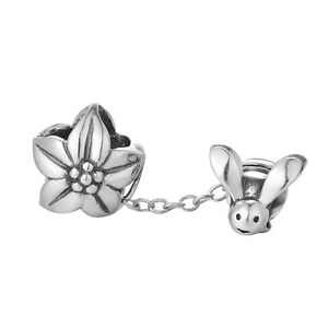 Dangling-Bee-and-Flower-Charm-925-Sterling-Silver-European-Bead-Wedding-Gift