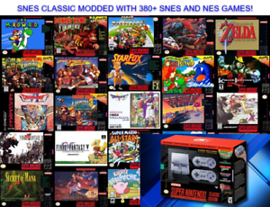 Super Nintendo Classic Edition Snes Mini Modded 380 Games From