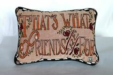 """Mary Engelbreit ME """"That's What Friends Are For"""" Tapestry Throw Pillow 12.5""""x9"""""""