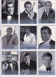 F81 James Bond Mission Logs Bond Villains Chase Card Set 11 cards F71