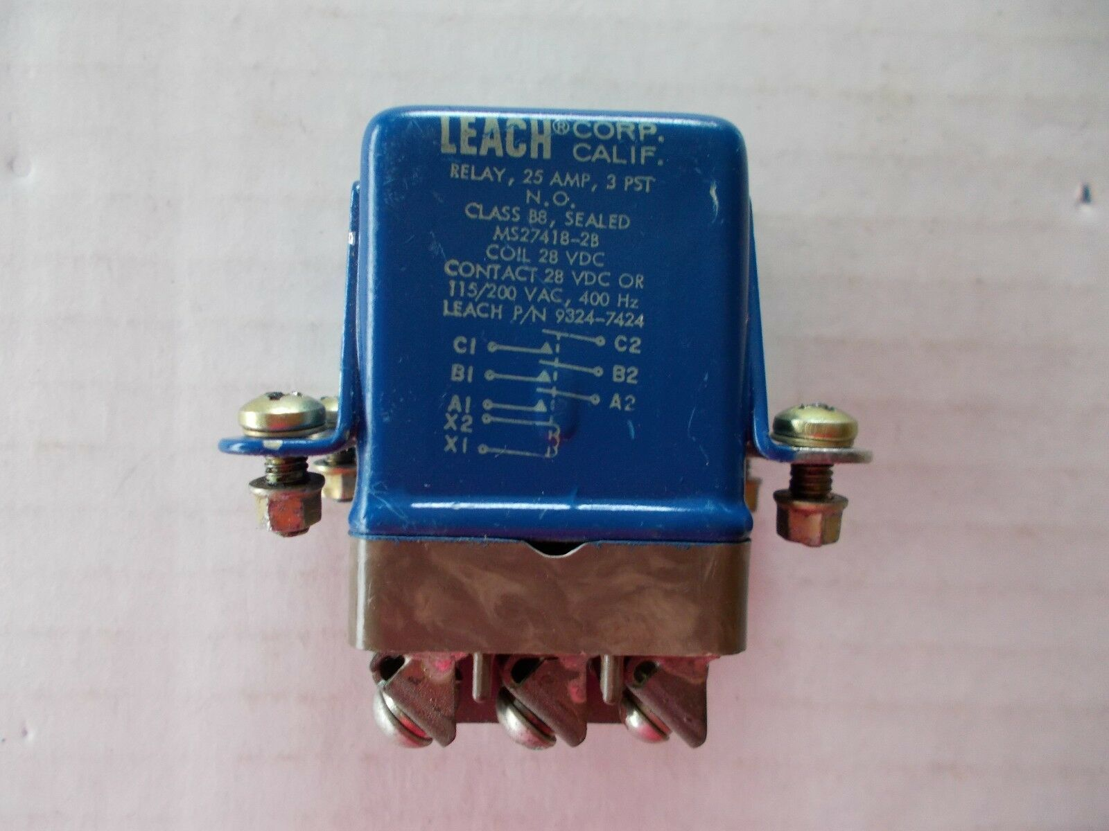 NEW Leach M83726//29-1000S Sealed Mil-Spec Relay ON R-Fixed Period 2 PDT 10-AMP