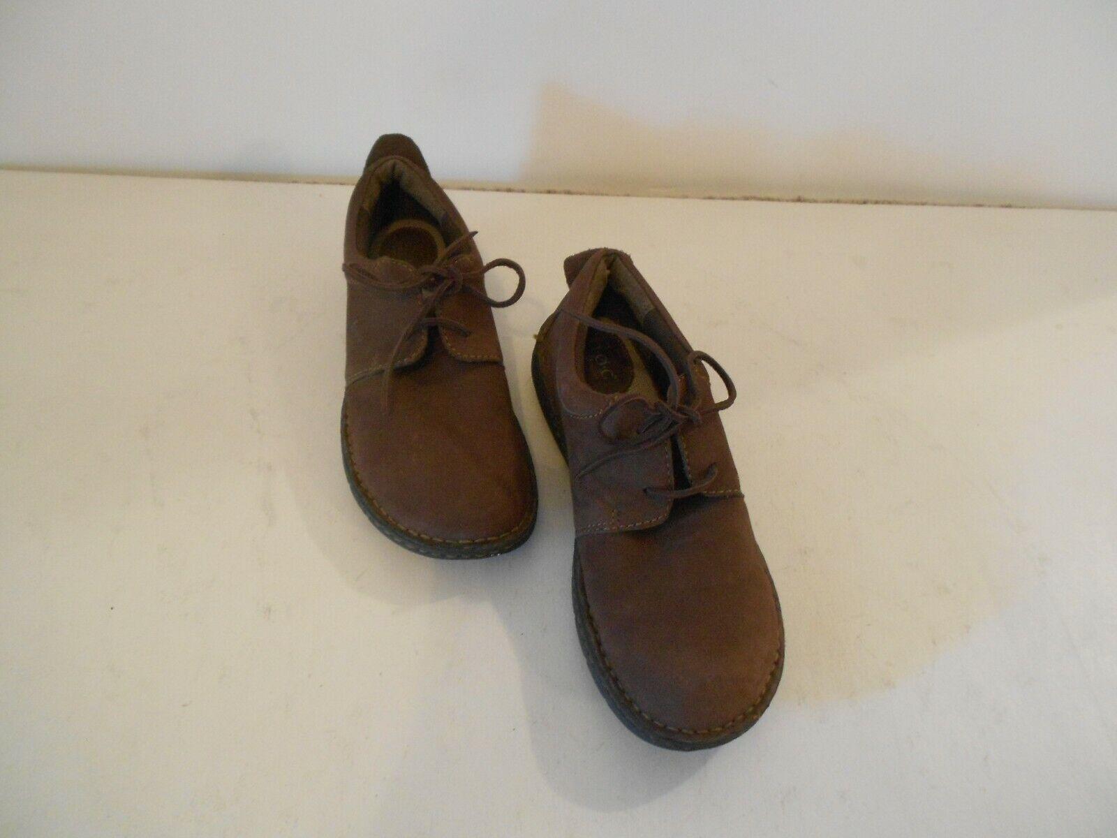 Women's Born Concept Brown Suede Leather Shoes Laceups US 10 EUR 42 Comfy Insole