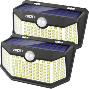 2 Lamparas 120 Led Luces Solares Exterior Para Patio Con Sensor De Movimiento Ebay