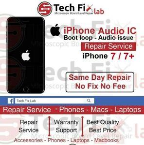 brand new 73fe4 dfdb6 iPhone 7 7 Plus Audio IC Boot loop Audio problem Speaker Repair ...