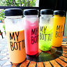 Fashion Clear My Bottle Fruit Juice Sport Portable Travel Bottle Water Cup 500ML