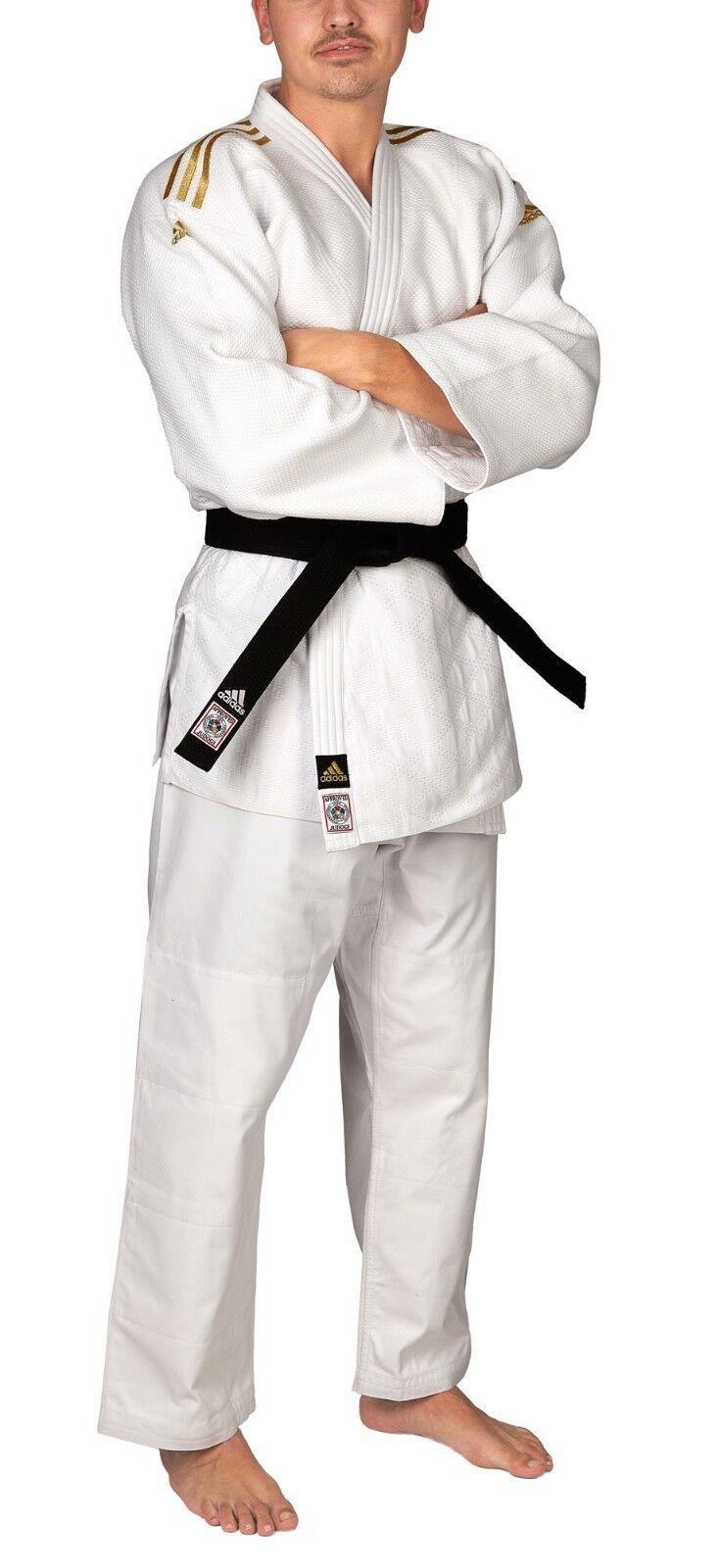Adidas Judoanzug    CHAMPION II  IJF weiß Goldene Streifen JIJF - Judo-Anzug 352cde