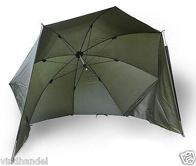 Zebco Brolly Angelschirm Schirmzelt Schirm Karpfenzelt  Karpfenschirm 250 grün..
