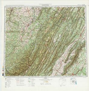 Details about Russian Soviet Military Topographic Maps - state MARYLAND  (USA), 1:500 000