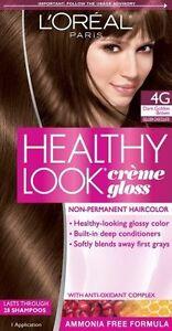 Lot-of-2-L-039-Oreal-Paris-Healthy-Look-Creme-Gloss-Color-Dark-Golden-Brown-Choco