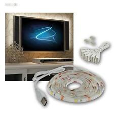 """TV illuminazione di sfondo,LED Raggiungere Strip Set,USB,42-65"""" bianco caldo"""