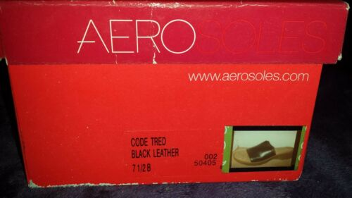 Details about  /Aerosoles Code Tred Black Leather Slip On Sandals Size 7.5