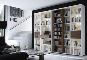 Bücherregal Modern wohnwände studio wehrsdorfer regalwand bücherregal modern ebay