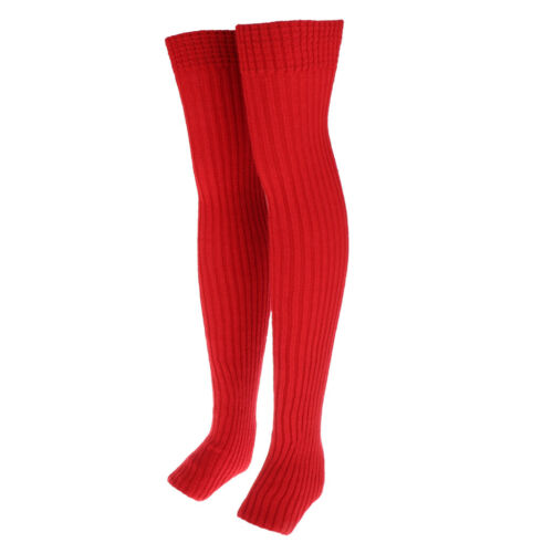 Knitted Crochet Over The Knee Socks Leg Warmers Winter Warm Socks Sleeves