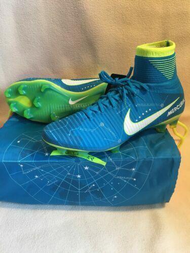 watch 55719 ecd95 Nike Mercurial Superfly V NJR FG Size 10 Neymar Cleats Blue White  921499-400 for sale online | eBay