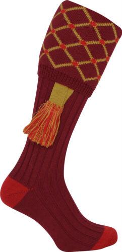 Extra long motif de diamant laine mix tir chaussettes breek stocking /& jarretière lot