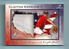 CLAYTON KERSHAW 2007 USA BASEBALL ALUMNI USA 2 COLOR PATCH JERSEY NUMBER # 16/20