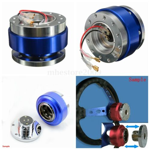 Universal Racing Steering Wheel 6-Hole Bolt Ball Bearing Quick Release Kit  //