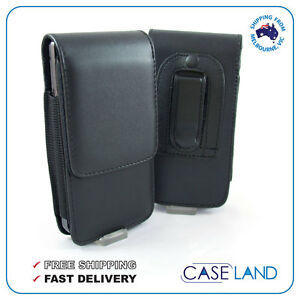 Black-Leather-Belt-Clip-Pouch-Holster-Case-Cover-For-Apple-iPhone-8-X-7-6-5