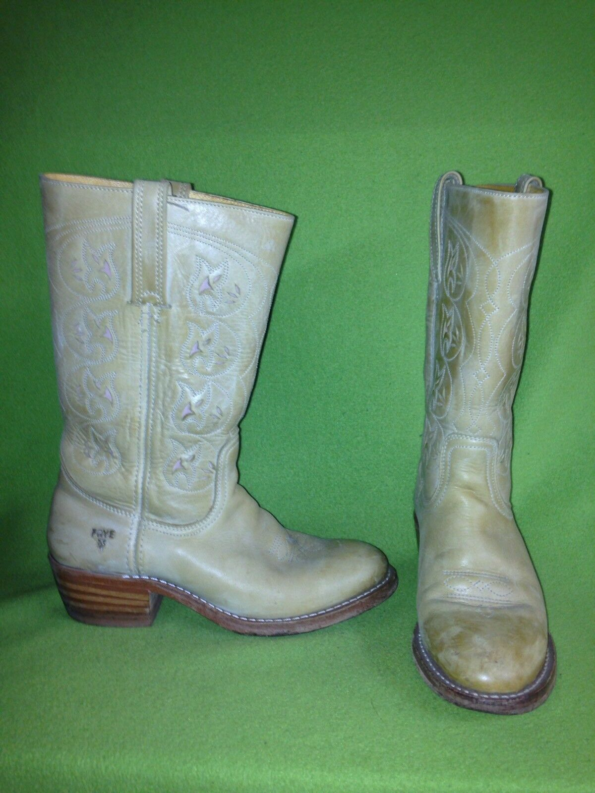Tan Frye Boots with Cutout detail 9.5 M
