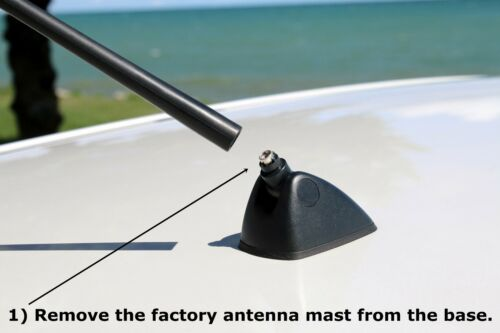 2009-2015 Toyota RAV4 Functional AM//FM SILVER Shark Fin Antenna FITS